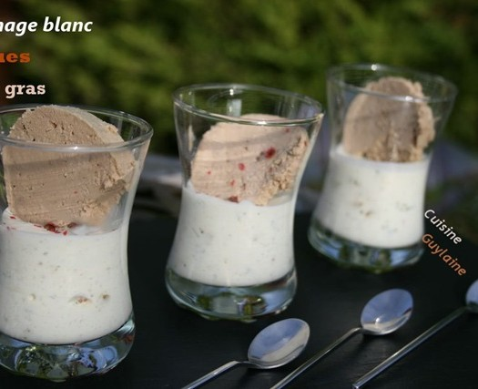 verrine fromage blanc figues foie gras